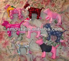 sper cute Pink Cotton stuffed Dog soft facric Puppy Dogs Stuffed Animals XMAS valentine sale