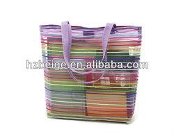 Colorful promotion mesh tote bag, beach bag, shoulder bag