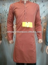 Brown colour KAmeez with contrast Shalwar