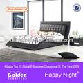 佛山黄金の家具のキングサイズのベッドの寸法は、 水晶付き2780販売