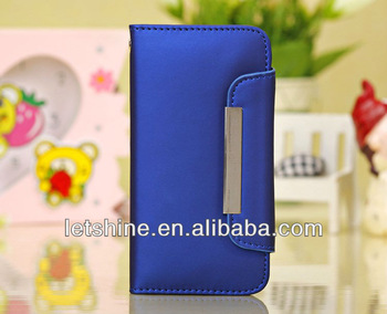 Amazing Wallet Style PU Leather Case For iPhone 5C Colorful With 3 Card Holders