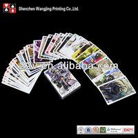 Custom Japanese cartoon game playing cards