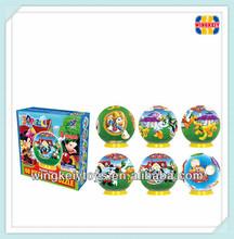 Hot globe diy 3d puzzle kid toy eductional toy iq puzzle game 2013 round shape 60 pcs children paper cubic puzzle