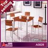 A0828 lastest design korean cheap wrought iron wood table