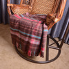2014 factory direct supply soft woolen home Scottish plaid throw blanket with tassels