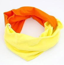 PC025 Leisure style hair accessories for men two-tone cloth wide cheap sports headbands