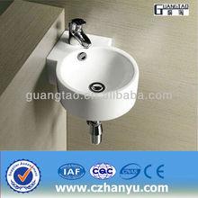 GT-3042 corner mini circular standard sanitary ware corner mount sink