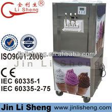 Jin Li Sheng CE, IEC BQ332 Hot Sale 3 Flavors Vertical Soft Serve Ice Cream Making Machine
