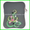 Printed special neoprene black simple laptop bag