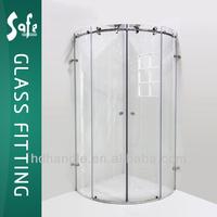 Frameless glass sliding shower cabin