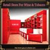 woode wine showcase for liquor store display furniture design