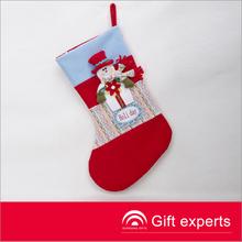 Cheap popular 20'' snowman fancy christmas stockings