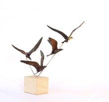 Bronze sculpture Terns on Stainless/ Sandstone base