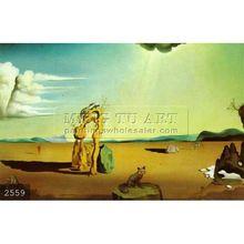 Handmade salvador dali Surrealist oil painting, Nude in the Desert Landscape