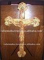 Oliva marrom de madeira decorativas parede crucifixo
