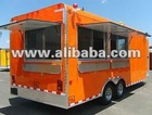 ORANGE 8.5 X 20 FOOD CONCESSION TRAILER CATERING BBQ FOOD BRISKET CONCESSIONS