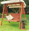 GARDEN SWINGS-GARDEN SWINGS Land of Canaan Swing Seat A traditional design constructed in exotic hardwood, the Savannah Swing S