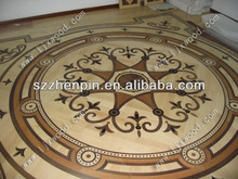 art parquet hardwood medallion design flooring rose wind