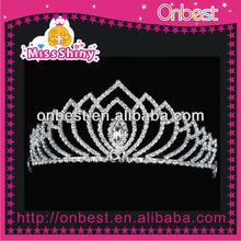 Plated Floral Crystal Rhinestone Wedding Headband Tiara Hair Band