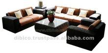2012 design wood/rattan/wicker/water hyacinth sofa set 5pcs