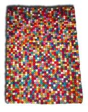Rectangle Felt Ball Carpet/ Rug/Teppich