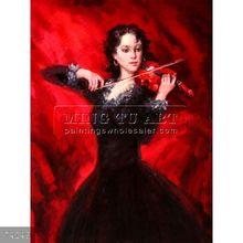 Handmade music oil painting on canvas, Passion, II