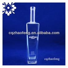 750ml T sharped long neck coloured glass alcohol bottle for Rum/Brandy/Cognac glass bottle