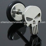 The skeleton shape silver plated stainless steel never fade allergy free fashion for women stud earrings jewellery