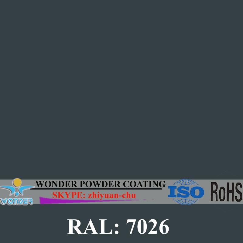 RAL 7026 Granite Grey electrostatic epoxy/polyester powder coating