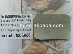Plain Nylon 70D/190T+TPU+Nylon Tricot fabric