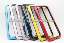 Beautiful Double color TPU bumper for Samsung S4 bumper case