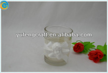 white love angel image decorated clear votive candle cup glass candle containers