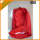 Nylon laundry bag with drawstring closure