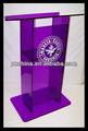 Rd-882 venda quente vidro orgânico púlpito; púlpito de acrílico móveis; púlpito da igreja de projetos