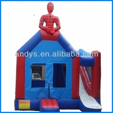 Popular!! spiderman inflatable combos jumper bounce house for kids