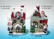 resin Santa Claus house christmas decoration
