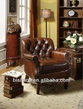 Imported genuine leather antique sofa MOQ:1 PCS (BF00-20172)