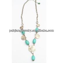 blue big make stone necklace