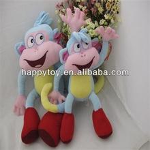 HI CE Funny red shoes plush birthday gift monkey toys