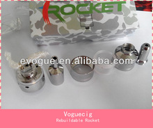 Latest rocket rebuildable atomizer 2013 performed perfect in high voltage/VV battery