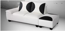 Italian leather sofa, living room furniture sofa set with ottoman