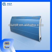 Blue color sunproof good quality PU foam filled roller shutter slats