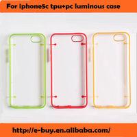 soft gel fluorescence luminous tpu pc case for iphone 5c