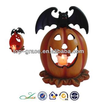 Artificial halloween pumpkin light decorations
