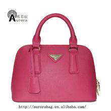 fashion red color evening satchel bag