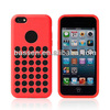 soft rubber case, for iphone5c original silicone cover, with dot hole