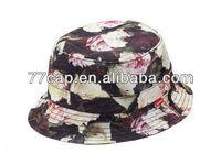 wholesale custom high quality fashion floral supreme bucket hats