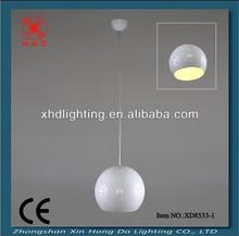 White big ball glass modern single pendant light fittings for cafeXD8533-1P