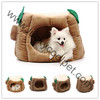 Coffee fleece Stump cat house