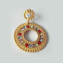 gold plated earrings /gold earrings 2012 new design / gold earrings designs for girls